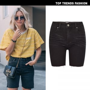 Mid-Rise Long Slim Women Short