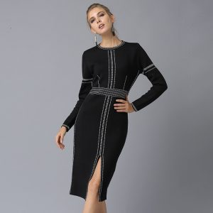 Chic Black Women Sweater Dress